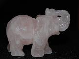 mineralen edelstenen rozenkwarts olifantje sieraden.